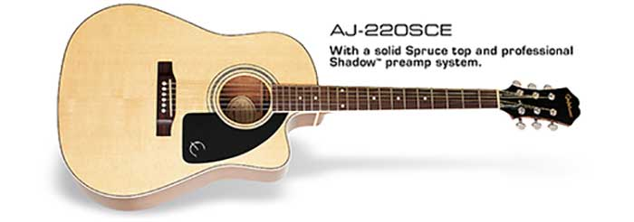 epiphone s one of best selling acoustic guitar aj 220sce musichouse. Black Bedroom Furniture Sets. Home Design Ideas